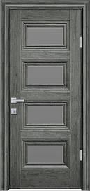 Двері міжкімнатні Тесса скло Графіт, Горіх Сибірський, 900