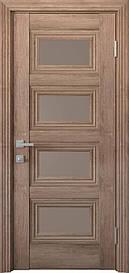 Двері міжкімнатні Тесса скло Бронза, Горіх Європейський, 900
