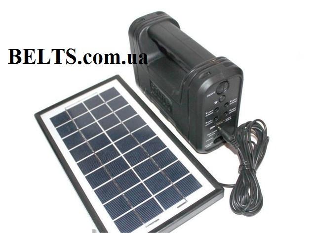 Домашняя солнечная система GD-8012 (станция с лампами, солнечной панелью и переходниками)