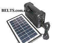 Домашняя солнечная система GD-8012 (станция с лампами, солнечной панелью и переходниками)  , фото 1