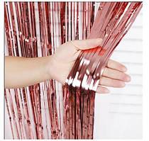 Шторка завісу з фольги для фото зон, ПУДРА 1х2 метри