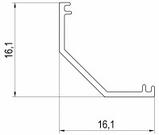 Алюмінієвий кутовий профіль для ЛЕД освітлення ЛПУ-16/ ПУ-20, фото 3