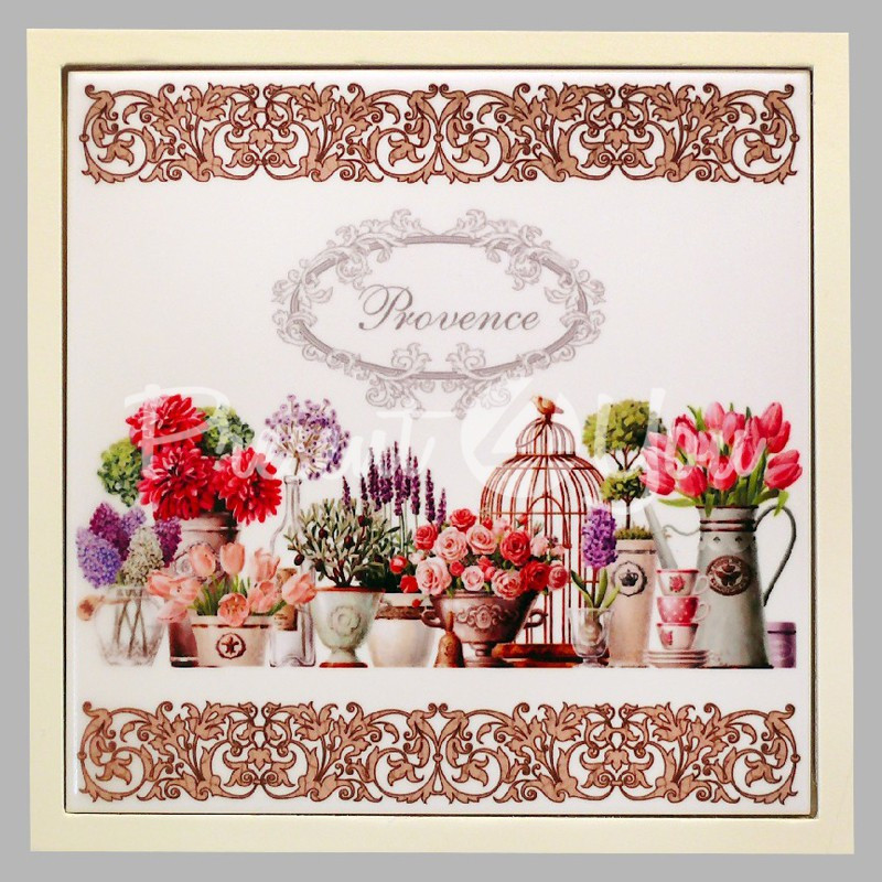 Панно настенное «Прованс. Цветы», 15х15, 16,5х16,5 см.