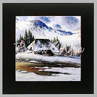 Панно настенное «Зима в горах», 20х20, 28х28 см.