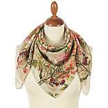 10958-2, павлопосадский платок шелковый (крепдешиновый) с подрубкой, фото 2