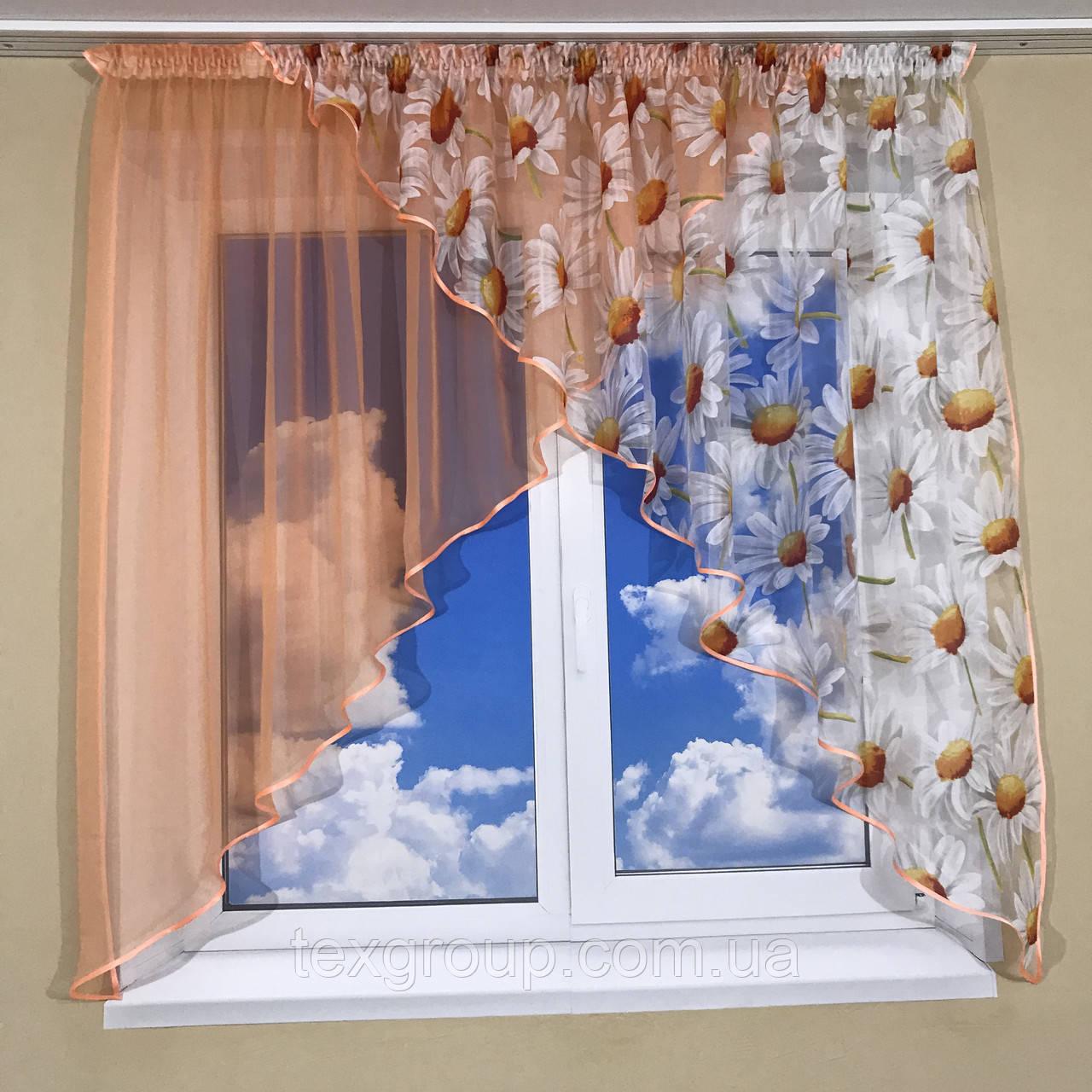 Кухонная занавеска на маленькое окно №418