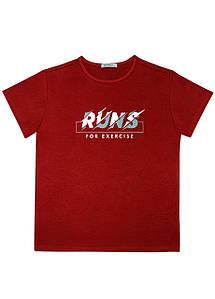 Мужская футболка Doomilai 100% хлопок (красная) Арт.1860-Z