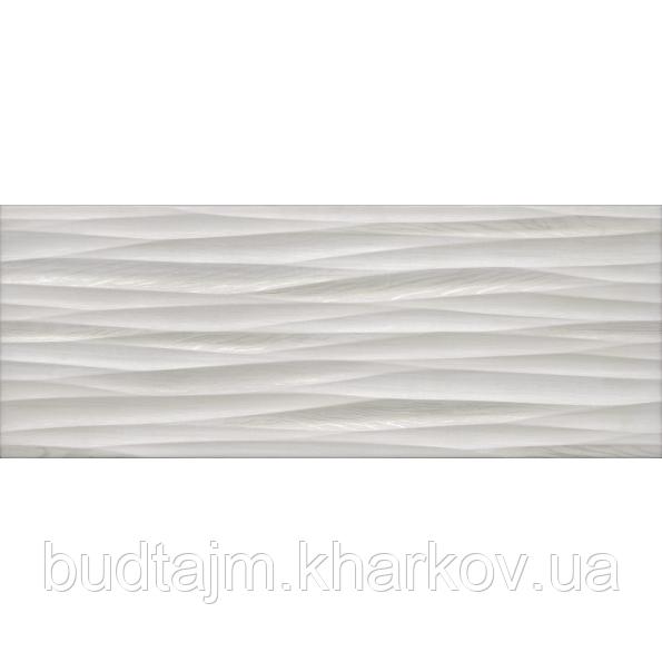 23х60 Керамическая плитка стена Альба Alba рельефная серая