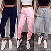 Повседневные женские спортивные штаны с манжетами из двунитки, фото 2