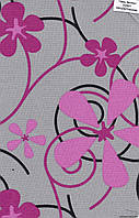 Ролеты тканевые узор цветы