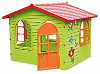 Детский игровой домик Mochtoys 10425 пластиковый садовый столик стульчик для детей для дома дачи