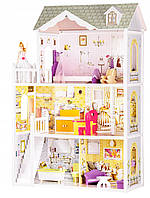 Большой кукольный домик для детей Ecotoys 4108 Beverly 124 см Деревянный детский для кукол Ляльковий будинок