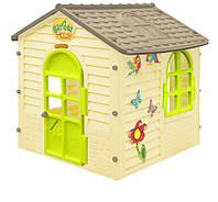 Детский игровой домик Mochtoys 11558 пластиковый садовый столик стульчик для детей для дома дачи