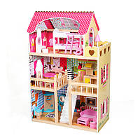 Большой кукольный домик для детей AVKO Вилла Валетта Деревянный детский для кукол Ляльковий будинок