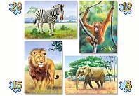 Пазлы Castorland 04072 Дикие животные 20-15-12-8