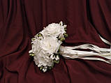 Свадебный букет-дублер из пион молочный, фото 2