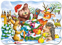 Пазлы Castorland 03402 Новий год в лесу