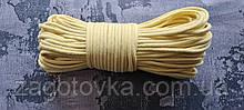 Шнур плетений 5 мм з сердечником Блідо-жовтий
