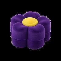 Футляр для ювелирных украшений детский цветок фиолетовый