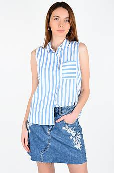 Рубашка женская голубая AAA 129035M