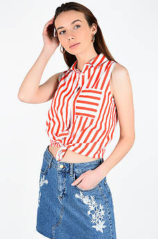 Рубашка женская оранжевая AAA 129050M