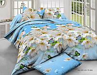 Евро комплект постельного белья «Весна из полиэстера