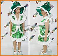 Детский костюм для девочки Елка - Елочка парча
