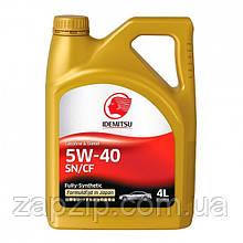 Масло моторное IDEMITSU SAE 5W-40 (4литра, пластик)