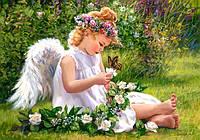 """Пазлы """"Castorland""""  500шт (51991) 47*33 см (Ангелок в саду)"""