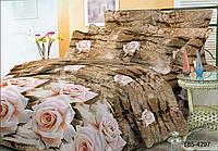 """Полуторный комплект постельного белья коричневый из полиэстера """"Дикая роза"""""""