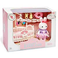 Детская комната для зайчика. Кроватка для флоксовых игрушек.