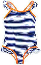 Детский цельный купальник в полоску Minoti 8-10 лет