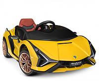 Детский электромобиль c управлением Lamborghini (Ламборджини) Bambi M 2560 Желтый