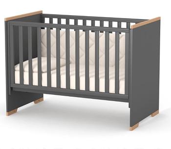 Дитяче ліжечко Верес ЛД9 Сіетл Темно-Сіре