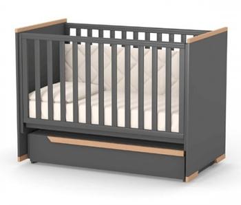 Дитяче ліжечко Верес ЛД9 Сіетл з маятником Темно-Сірий
