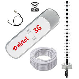 3G WI-FI комплект Интернет на дачу (модем ZTE MF 70 + антенна 21 Дб)