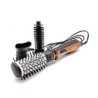 Вращающаяся воздушная фен-щетка для сушки и укладки волос Gemei GM-4828 расческа, стайлер, браш, фото 1