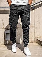 Мужские брюки джоггеры карго ЧЕРНЫЕ New Binnu Размеры: 29, 30, 31, 32, 33, 34, 36, 38