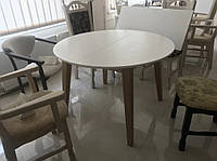 Стол круглый раскладной Женова  D 1100(1600) х 1100мм