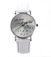 """Оригинальные женские часы """"Who Cares""""  Белые"""