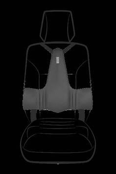 Ортопедична спинка KULIK SYSTEM DRIVER HELP Сірий (1702)