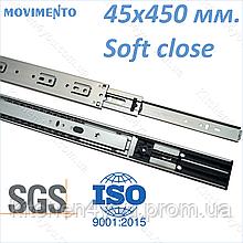 Напрямна 45x450 мм. з доводчиком Movimento N-Pro
