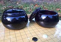 Чаши для камней Го из ююба цельные, 14,5 х 9,5 см.