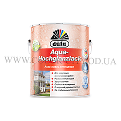 Акриловая эмаль для дерева и металла Dufa Aqua-Hochglanzlack (глянцевая) 2.5л
