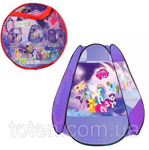 Палатка игровая Пони My Little Pony M 5775 - 8006 (110-120-110 см) 1 вход, накидка-липучка, окна-сетки Т