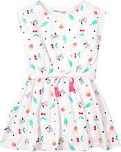 Детское летнее коттоновое платье для девочки 9-12мес, 12-18 мес (74-80 см, 80-86 см)