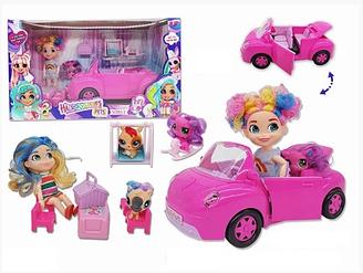 Набор Кукла Hairdorables c питомцем на Машине
