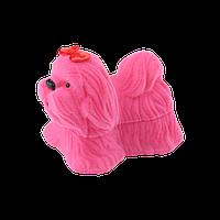 Футляр для ювелирных украшений детская собачка розовая