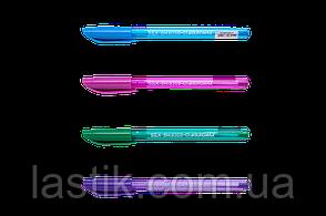 Ручка масляная SILK 05 мм трехгр корпус синие чернила