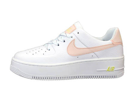 Женские кроссовки Air Force 1 Sage White/Pink, фото 2